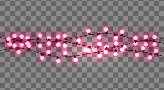 Ghirlanda retrò realistica di lampadine
