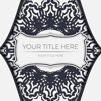 Carta vintage di colore chiaro con ornamento astratto. design della carta di invito con motivi mandala.