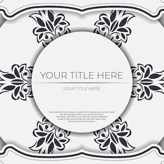 Cartolina vintage di colore chiaro con motivi astratti. disegno vettoriale di carta di invito con ornamento mandala.