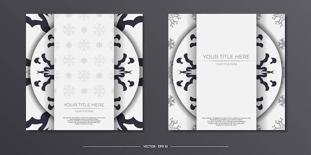 Cartoline vintage di colore chiaro con motivi astratti. design della carta di invito con ornamento mandala.