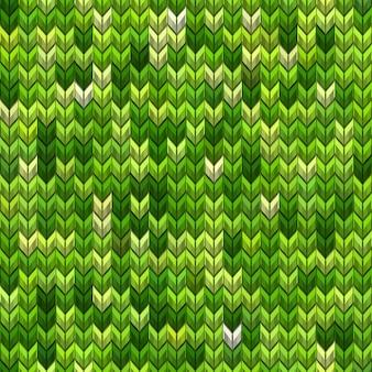 Modello senza cuciture a maglia semplice rumore realistico verde chiaro e scuro. e include anche