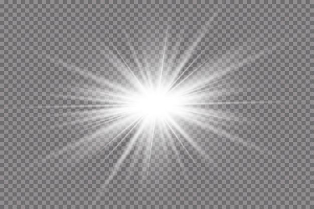 Effetto luce della stella luminosa che esplode