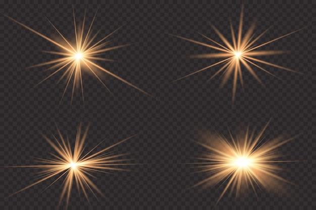 Effetto luce. stella luminosa.