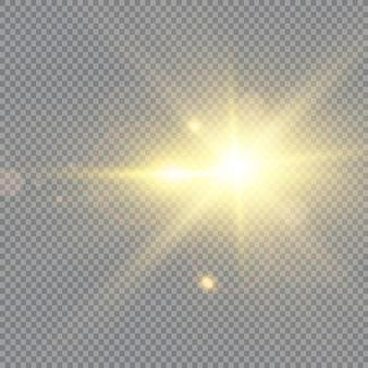 Lente solare frontale effetto luce