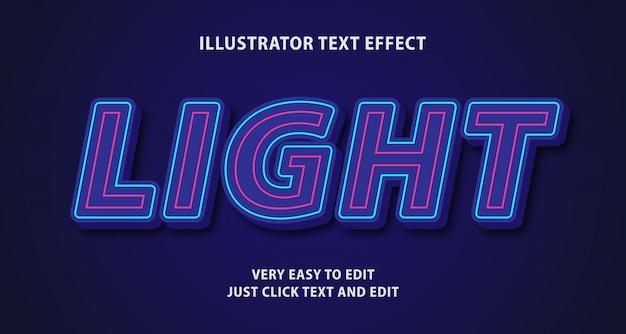 Effetto di luce al neon con testo al neon, testo modificabile