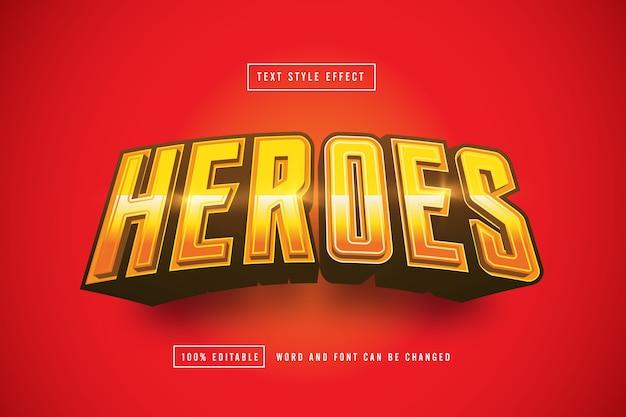 Effetto testo light gold hero modificabile