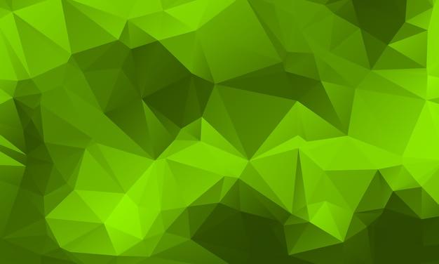 Disegno verde chiaro del fondo del poligono di colore della natura, stile geometrico di origami dell'estratto