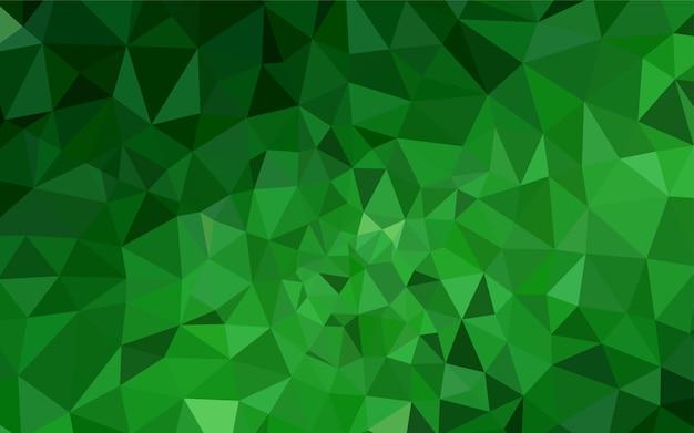 Contesto astratto poligono di luce verde vettoriale.