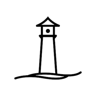 Modello di vettore di logo della casa di luce