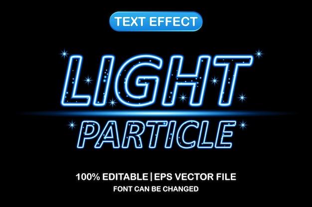 Effetto di testo modificabile 3d con particelle di luce