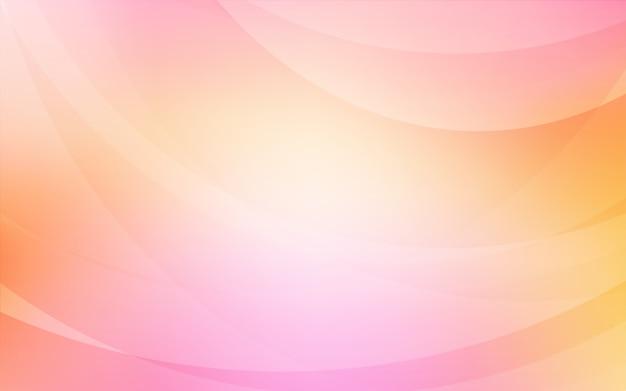 Modello rosa chiaro, giallo con nastri piegati.