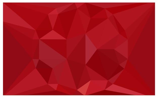 Illustrazione poligonale di vettore rosso-chiaro