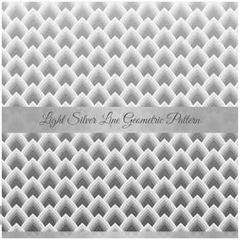 Motivo geometrico linea argento chiaro