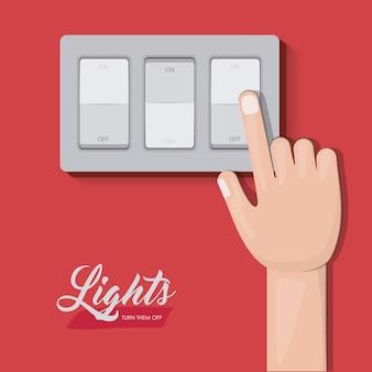 Disegno dell'interruttore della luce
