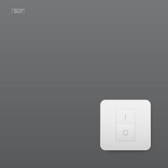 Interruttore della luce su sfondo grigio