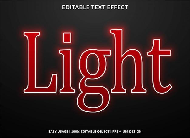 Modello di effetto testo chiaro
