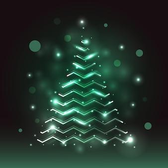 Concetto dell'albero di natale della traccia della luce