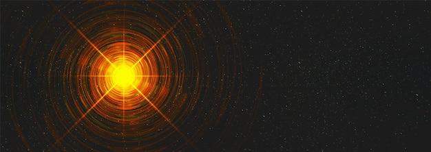 Wormhole di luce sullo sfondo dell'universo cosmico