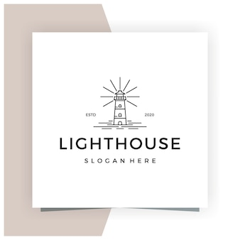 Ispirazione linea faro monoline logo design