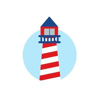 Adesivo faro logo del faro emblema grafica vettoriale