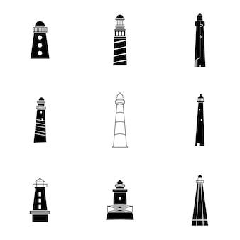 Vettore del faro. la semplice illustrazione del faro, gli elementi modificabili, possono essere utilizzati nella progettazione del logo