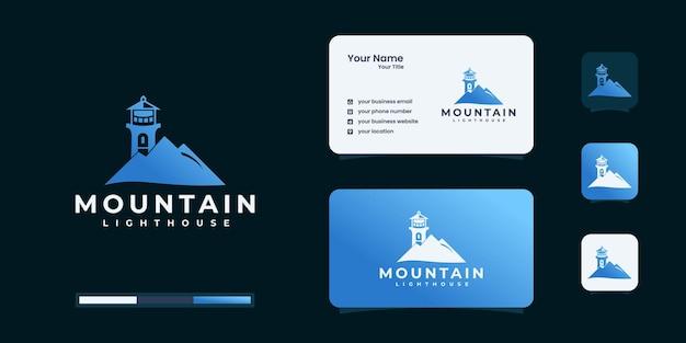 Faro con ispirazione logo montagna