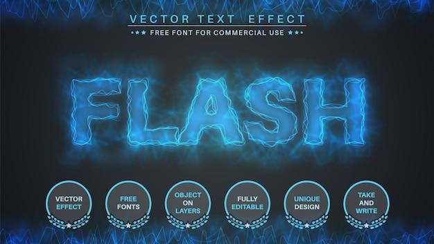 Stile del carattere effetto testo modifica fulmine