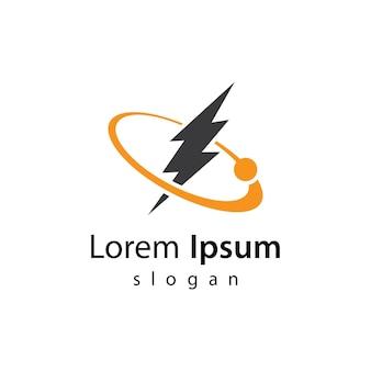 Disegno dell'illustrazione delle immagini del logo del fulmine
