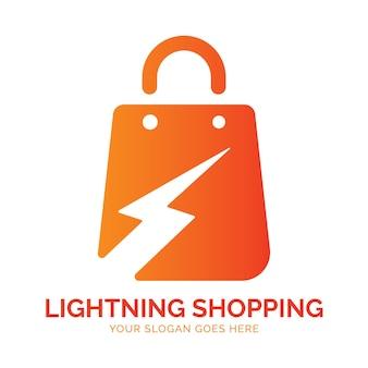 Logo shopping lightning