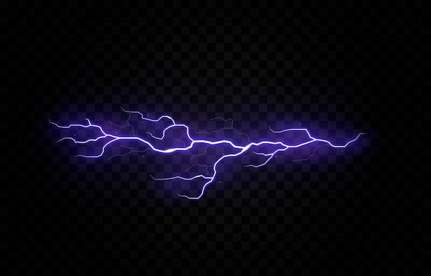 Fulmine tuono temporale elettrico vettore bullone png temporale effetto luce cielo flash grafico isolato sfondo realistico set elettrico energia sciopero tempestoso fulmine traspa