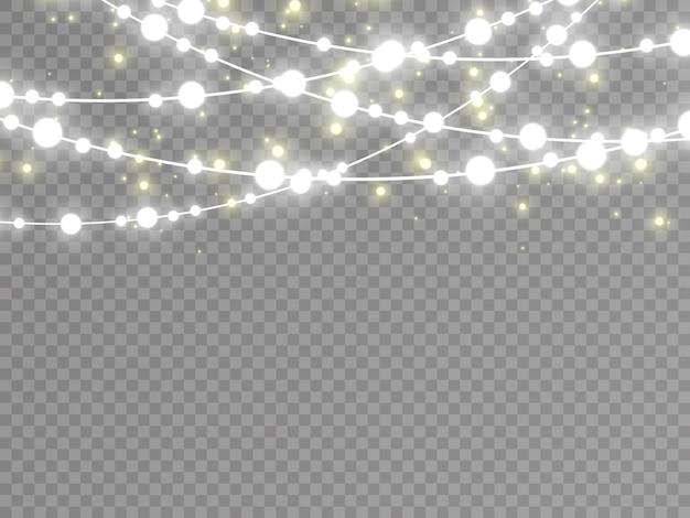 Luci isolate su sfondo trasparente.