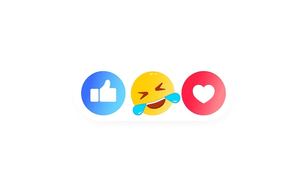 Come cuore, faccina, icona pollice in su come. icone dei social media. vettore su sfondo bianco isolato. env 10.