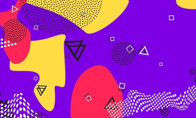 Copertina lilla. ornamento di vettore composition.1980. illustrazione di doodle di miele. volantino di animazione. disegno di mezzitoni viola. modello geometrico viola.