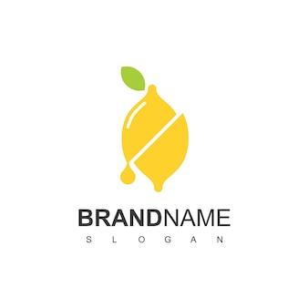 Logo lime con simbolo slice lime per identità del prodotto succo