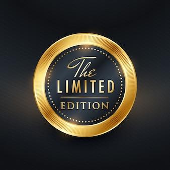 Vettore di design dell'etichetta in edizione limitata