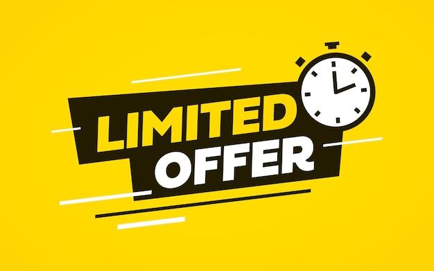 Bandiera di vettore di vendita di offerta limitata con sfondo giallo