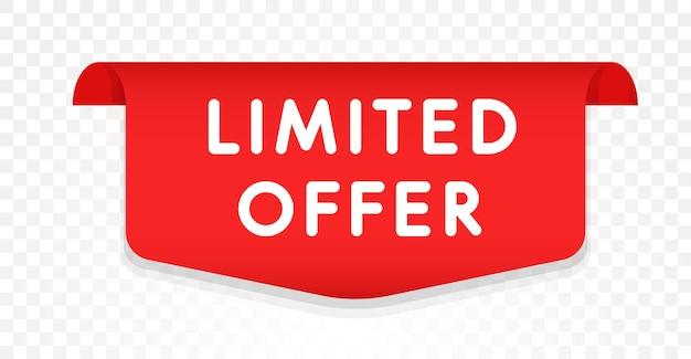 Modello di offerta limitata. progettazione di tag di vendita.