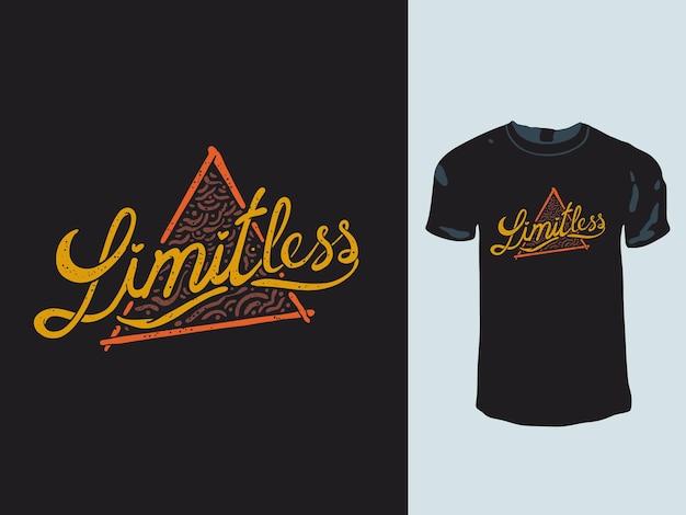 Design di t-shirt con parole triangolari illimitate Vettore Premium