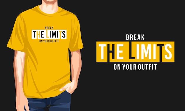 I limiti - t-shirt uomo casual Vettore Premium