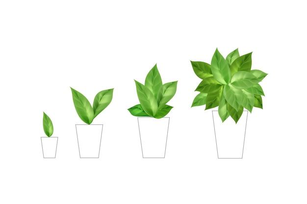 Composizione artistica al tratto con foglie realistiche.
