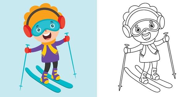 Linea arte disegno per bambini da colorare pagina
