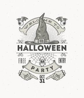 Illustrazione di arte di linea per la festa di halloween