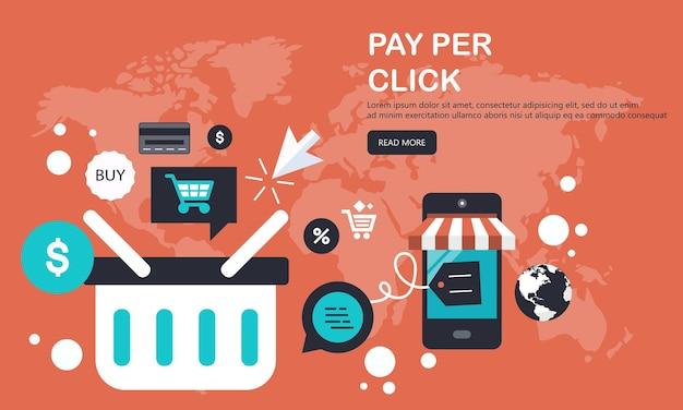 Banner per acquisti online e metodi di pagamento