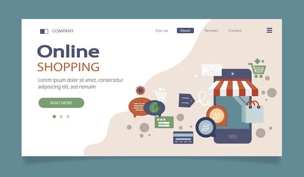 Pagina di destinazione per acquisti on line e metodi di pagamento