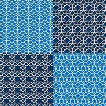 Collezione di modelli arabi lineari