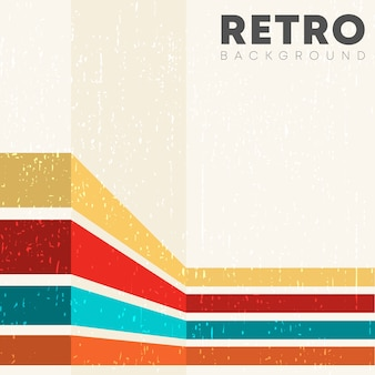 Sfondo lineare con texture grunge retrò e strisce colorate vintage.