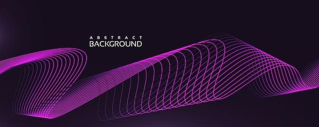Sfondo ondulato lineare con colore viola e stile unico