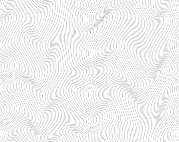 Linee astratte sfondo, colore bianco e nero chiaro. progettazione moderna di turbinio del reticolo senza giunte di vettore.