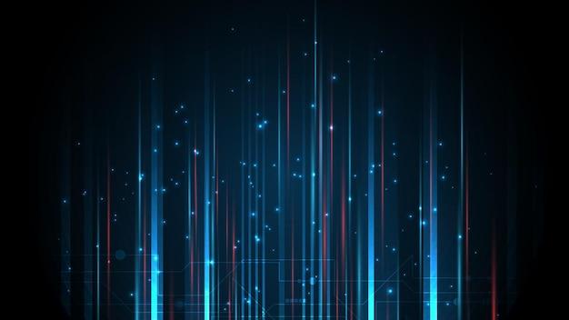 Linee composte da incandescente su sfondo nero