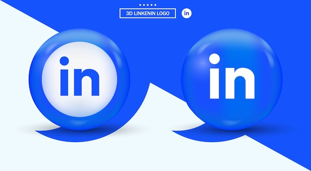 Logo linkedin in cerchio logotipo di social media in stile moderno